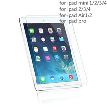 0.3mm 9H explosionproof tempered glass screen protector for Ipad Air1/2 ipad5/6 screen film