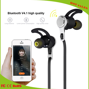 Fashion stereo bass earphone for mobile phone iphone7, stereo bluetooth headset wireless sport