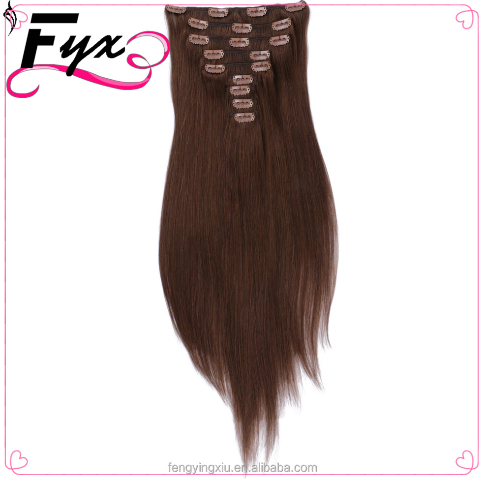 22 colors Hair Indian Hairpiece Wiglets Highlights Clip In Hair Pieces Long Straight Extension 04#Clip-In Extention