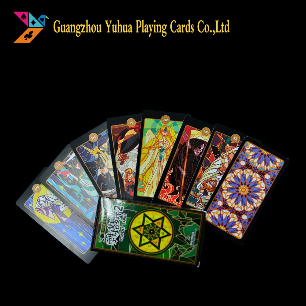 plastic custom design printing tarot cards deck supplier in China YH1068