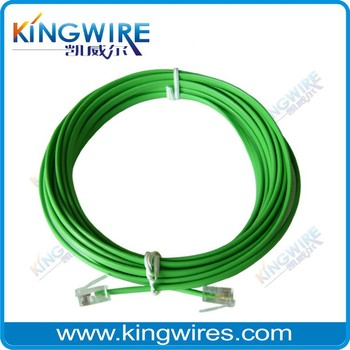 Hot sale green 4p4c rj11 flat telephone cable
