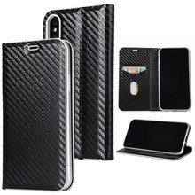 cell phone case super slim card holder flip carbon fiber leather wallet case for iphone x 6s