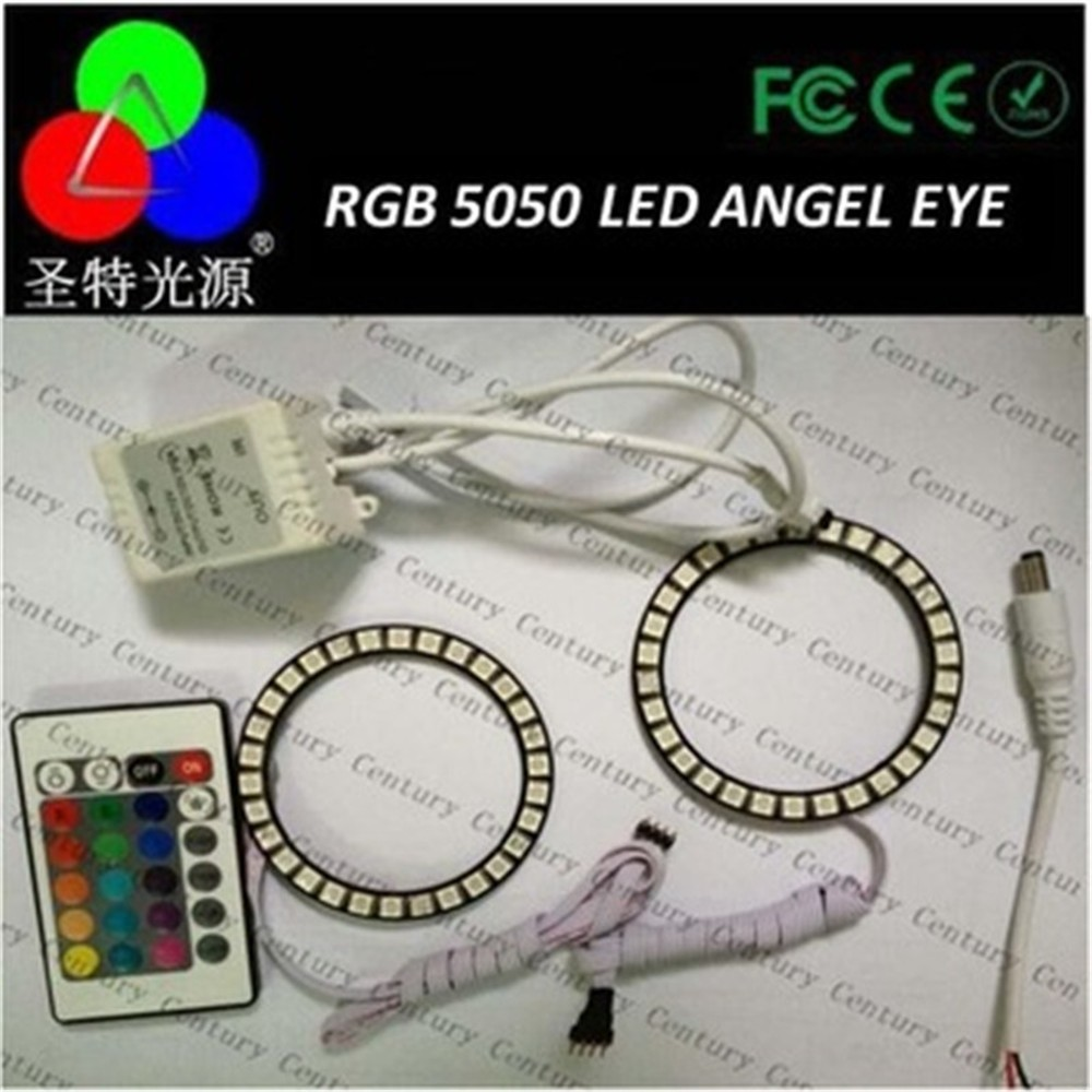 China RGB 5050 SMD LED Angel Eyes Halo Ring kit for BMW E36 E38 E39 auto hid xenon conversion ring kits