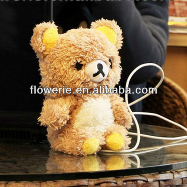 FL3189 Guangzhou hot selling animal fluffy fur doll toy case for samsung galaxy s3 i9300