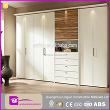 korean antique white distressed model bedroom storage wardrobe furniture design with dtc hinges