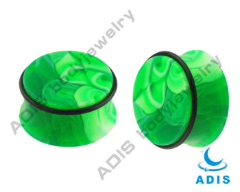 Newest Solid Acrylic Tunnel Ear Plug With Pattern