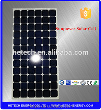 Sunpower Cells Panel 72 series 230W 36V PV Modules Solar Energy Products