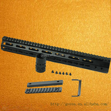 "New Keymod Free Float Rifle Style 15"" Inch Handguard Rail Mount with steel barrel nut"