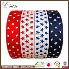 America custom single face patriotic star patterned flag ribbon for hairbow