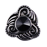 Alibaba Online Shopping Black Rhinestone Cloud Metal Snap Button On Jewelry For Women Braclet