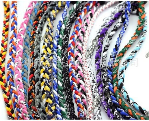 parachute cord titanium 3 ropes <strong>necklaces</strong> titanium magnetic balance sport custom <strong>necklace</strong>