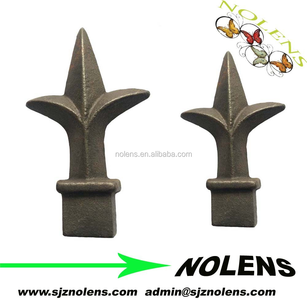 Cast iron decoration fence spears points/Architectural iron fence panels