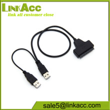 LKCL737 SATA 7+15 22 Pin to USB 2.0 Adapter Cable