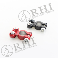 AL-14 insulated wire connectors car battery wire connectors aluminum clamps with epoxy paint red and black