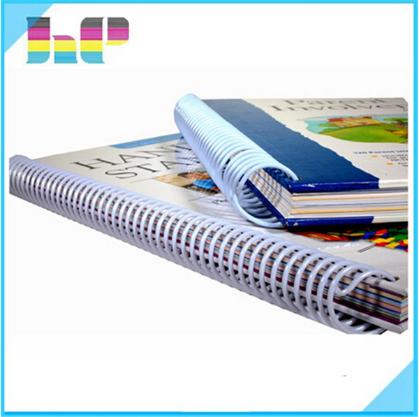 Colorful Hardcover book hardback book Wire-o Spiral Bound Book Printing