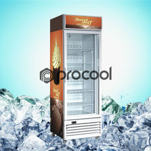 commercial ice cream display upright freezer