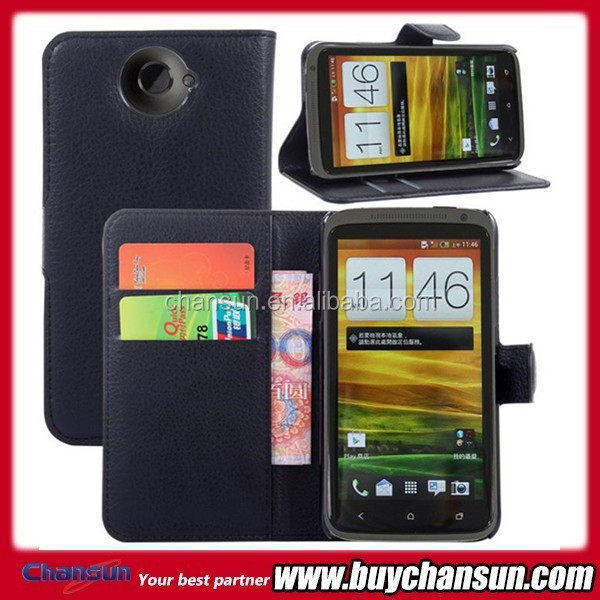 Most popular for HTC one X lychee design pu wallet case