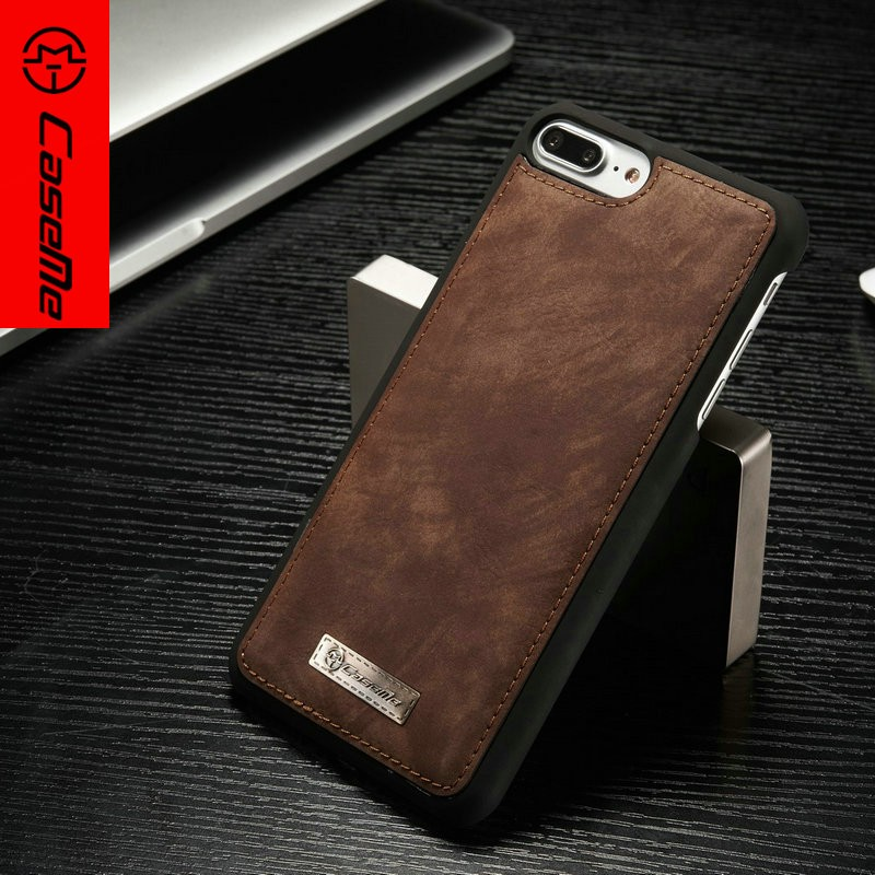 Customized cover case for apple for iphone 7 plus Texture Horizontal Flip Leather Case