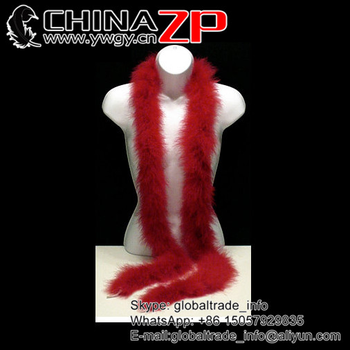 Gold Supplier CHINAZP Bulk Sale Good Loose 40g Weight Colored Red Turkey Marabou Feathers Plumage Scarf Boas for Fashion Show
