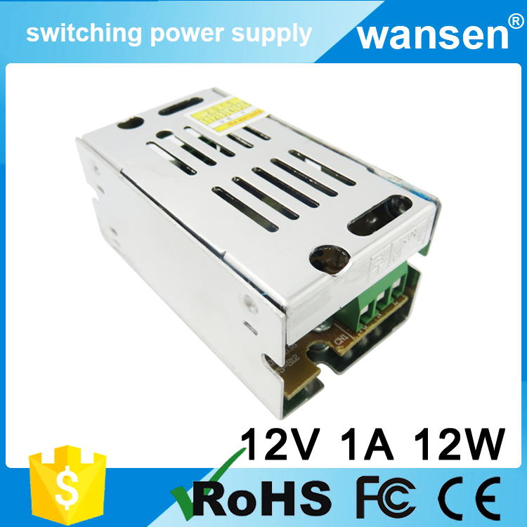 Wansen CE Approved S-10-12 10w 12v / 12volts 1 amp dc power switched led power supply nonwaterproof