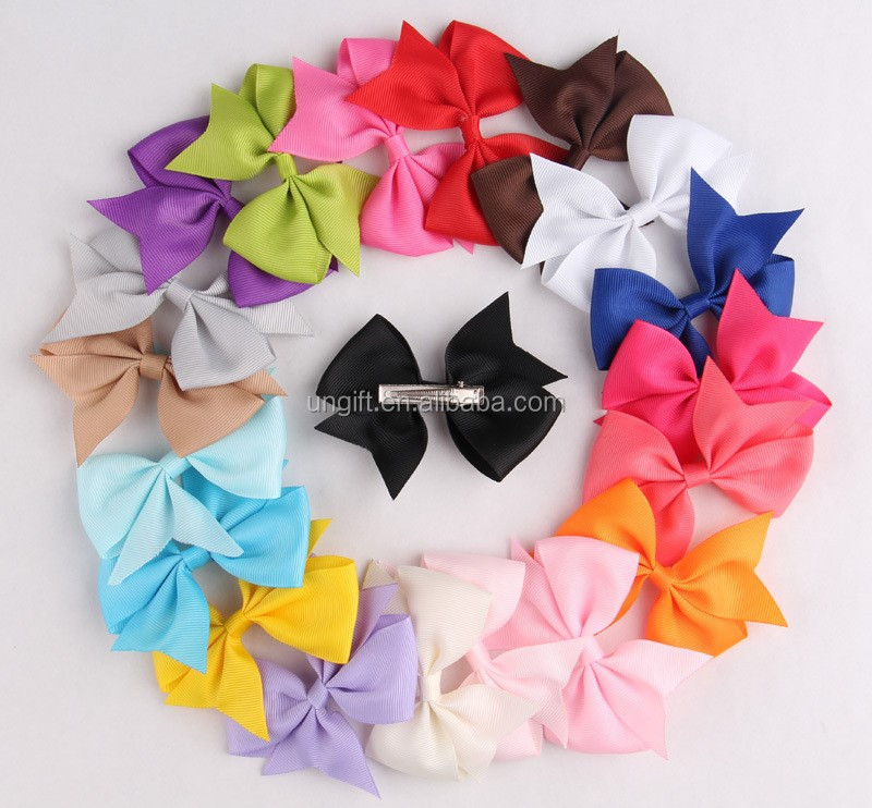 Korean Styles Children Hot Sales Ribbon Bow Hair Clip Hairpin For Kids Hair Accessories Set