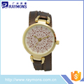 Custom logo smart women watches with long pu leather strap wholesale online