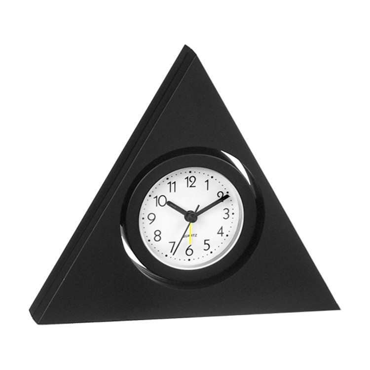 trangle shaped art desk clock item electronic corporate gifts