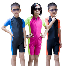 SBART Child Wetsuit Kids Diving Suit Shorty Surfing Wetsuits Short Sleeve Boys Girls Wet Suit For Swimming Lycra Dive Skins Sale
