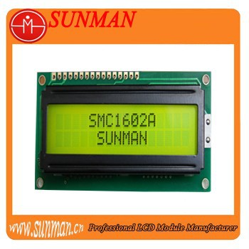 16 characters 2 lines lcd module