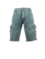 Men's burt out technics 60%cotton 40%polyester knit fabric casual more pockets shorts