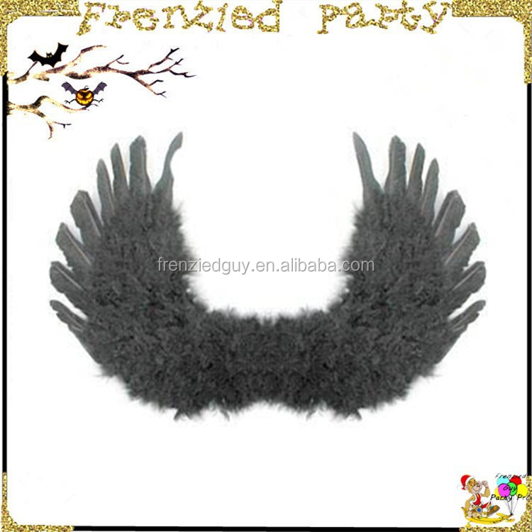 cheap large black feather party chicken super wings FGWG-1004