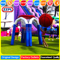 ZZPL Funny inflatable basketball hoop Hot sale inflatable sports game with firends