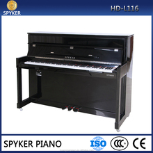 Digital Piano 88 keys Black Polish Electric Piano HUANGMA HD-L116 upright digital piano