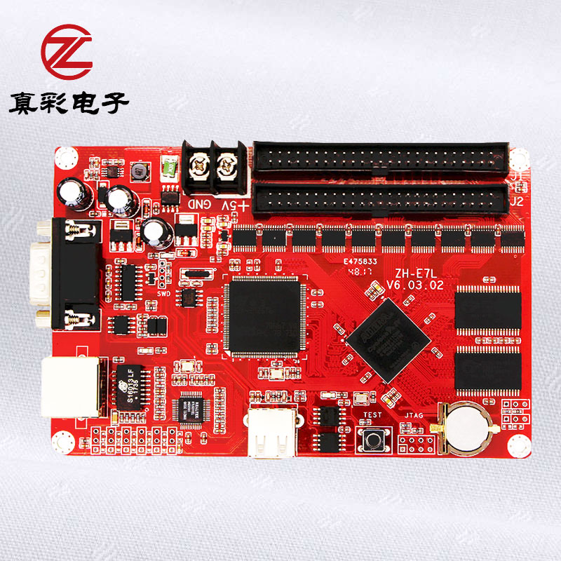 ZH-E7L Ethernet+USB+serial port led control card single/dual color led display screen controller ZH-E7