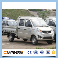China made 4x2 lorry double cabin gasoline mini truck for sale