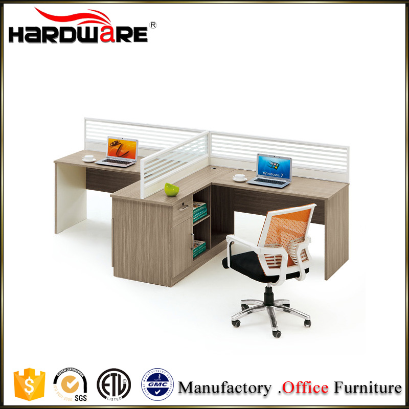 Latest office partition workstation design melamine clerical table