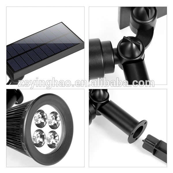 modern RGB Solar spotlight/Auto changing color led landscape led lamps,wall spot light for outdoor displays decorative ligting