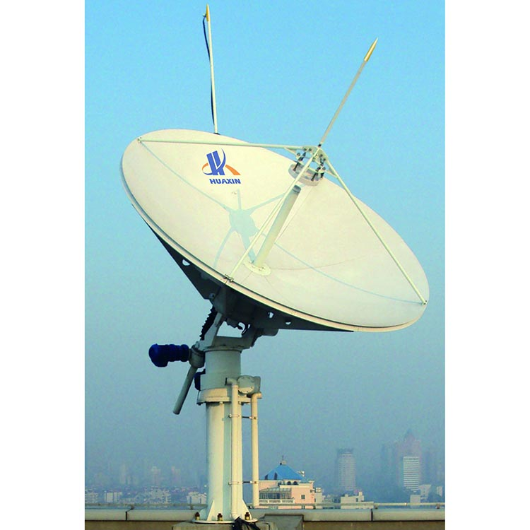 Factory Price 2.4m Parabolic RxTx Motorized VSAT Satellite Dish Antenna