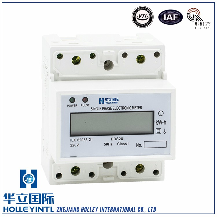 25mm standard DIN rail installation Active Din Rail Watt Hour Meter