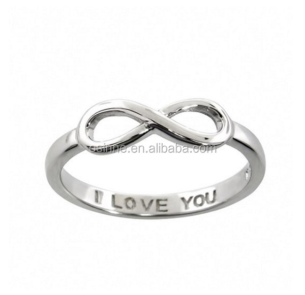 cheap wholesale endless love symbol 925 sterling silver ring infinity of best of friends OSSR0677