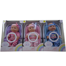 12 inch toy dolls with safety seat for kids baby girls