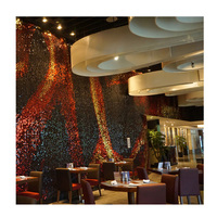 Sharaton Hotel fire wall sequin panel design restaurant wall decorative panel