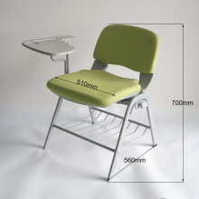 Fashion painting metal frame conference room training chair with writing board