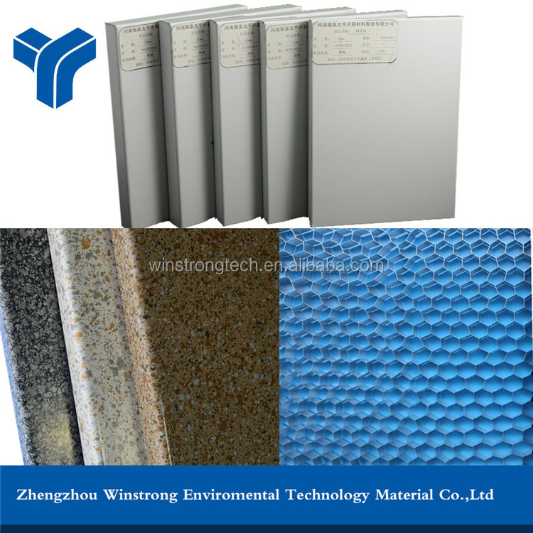 Stone or wood grain aluminum honeycomb exterior wall panel