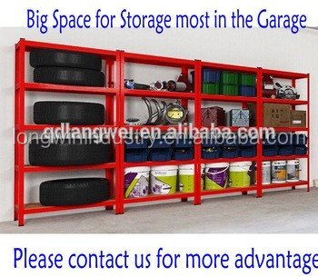 warehouse shelf system heavy duty steel shelving 5 tier euro rack