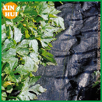 Black Weed Control Mat Fabric Mesh, Dust Proof For Agriculture
