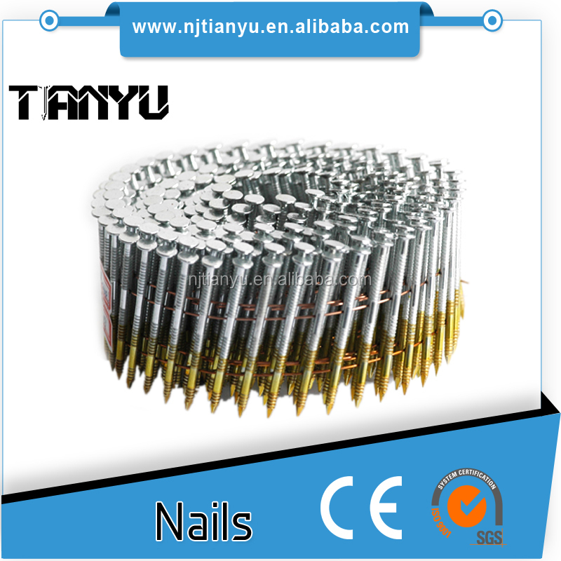 Umbrella head roofing nail wire made by steel