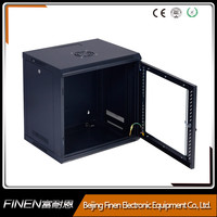 FINEN WM5409 Wall mount IT data rack 9u with removable glass door