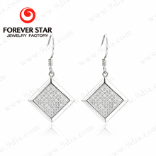 Wester Silver and Crystal Earrings Fish Hook Wholesale Lot Fashion Jewelry