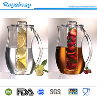 Wholesale plastic infusion fruit water pitcher